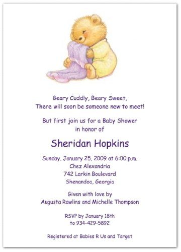 Soft & Cuddly With Yellow Pjs Baby Shower Invitations - Set Of 20 front-1010017