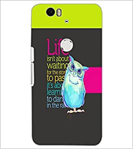 PrintDhaba Quote D-2465 Back Case Cover for HUAWEI NEXUS 6P (Multi-Coloured)