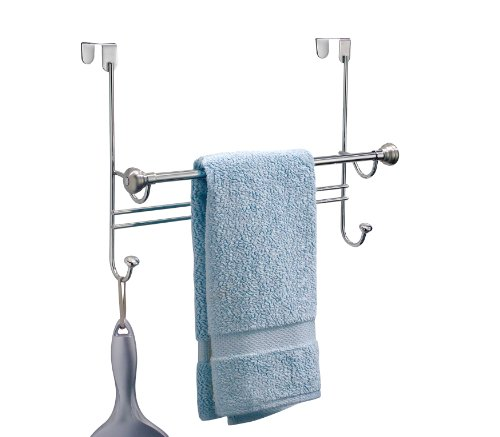 Towel Rack Metal Over The Door Bathroom Hanging Rail ...