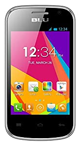 BLU Dash JR W D141w Unlocked GSM Dual-SIM Android Cell Phone - Silver