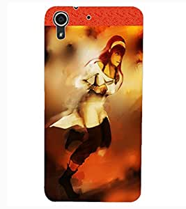 ColourCraft Beautiful Girl Painting Design Back Case Cover for HTC DESIRE 626S