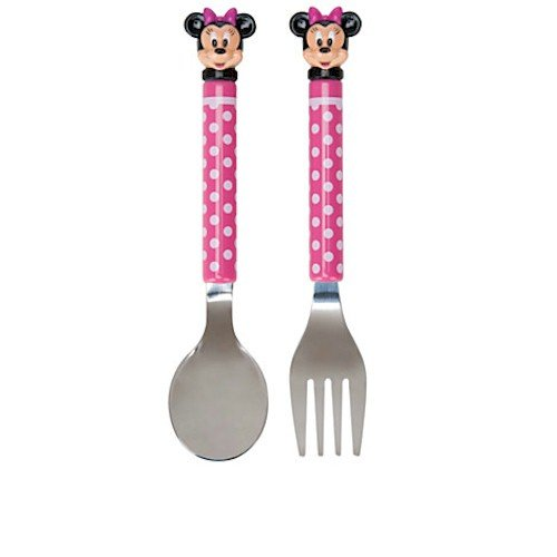Disney Minnie Mouse Polka Dot Flatware Set