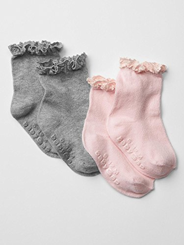 Gap Baby Crochet Trim Socks 2 Pack Size 0-6 M front-1011091
