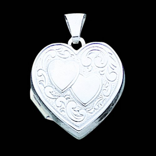 Sterling Silver Heart Locket. Metal Weight- 1.62g.
