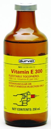 Durvet Inc D 002-2403 Vitamin E-300 Injection Yellow 250 Milliliter