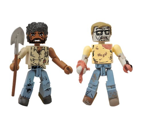 Diamond Select Toys The Walking Dead: Minimates Series 5: Survivor Morgan and Geek Zombie Two-Pack Action Figure - 1