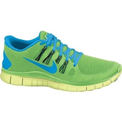 Mens Nike Free 5.0 Running Shoe Flash Lime/Black/Liquid Lime/Blue Hero Size 15