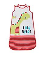 Pitter Patter Baby Gifts Saco de Dormir (Blanco / Rojo)