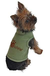 Amazon.com : Perro Camiseta interior, Lo que sea, verde, Extra-Grande