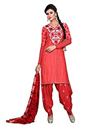 Balle Balle Pink colored Dress material
