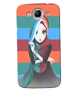 Fuson Pattern Girl Back Case Cover for SAMSUNG GALAXY MEGA 5.8 - D3679