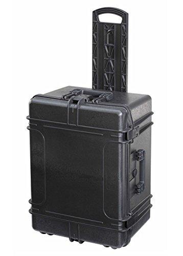MAX620H250STR-Wasserdichter-und-Staubdichter-Koffer-mit-Zupfschaum-im-Boden-und-Noppenschaum-im-Deckel-620mm-x-460mm-x-250mm-Schwarz-mit-Rollen-und-ausziehbaren-Griff