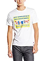 Levi's Camiseta Manga Corta Graphic Set-In Neck (Blanco / Amarillo)