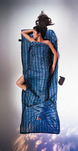 draps sac de couchage cocoon travelsheet silk checked silk sac viande. Black Bedroom Furniture Sets. Home Design Ideas