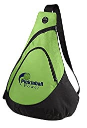 Pickleball Honeycomb Sling Bag - New/embroidered - Carry Pickleball Paddles - Lime Green