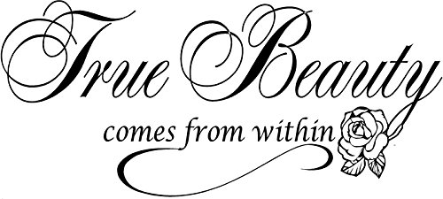 Quote It! - True Beauty Inspirational, Beautiful, Vinyl, Wall, Lettering, Stickers, Quotes, Saying,s Home, Art, Decor, Decals, Murals, Transfers, Self Esteem, Made In USA