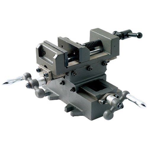 HHIP 3900-2704 Heavy Duty Cross Slide Vise, Metric Dial, Base is 8