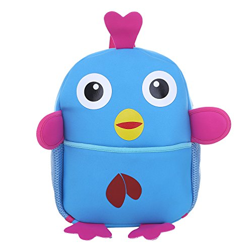 dondon-childrens-backpack-for-girls-and-boys-animal-motif-chick-blue-33-x-26-x-13-cm