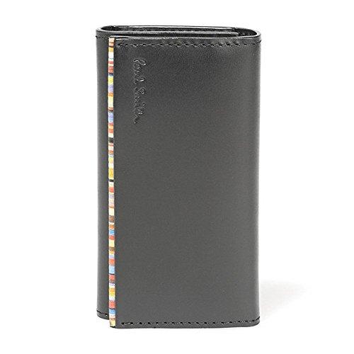 ポールスミス paul smith 財布 ブラック×マルチストライプ PSU052-990 キーケース ユニセックス レザー