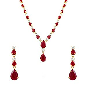 Oviya Combo of Vivacious gold and rhodium plated three necklace sets for Women CO1104392M