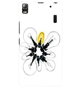 PRINTSWAG LIGHT BULBS Designer Back Cover Case for LENNOVO A7000