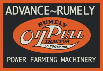 Oil Pull Tractor 20X30 Poster Paper