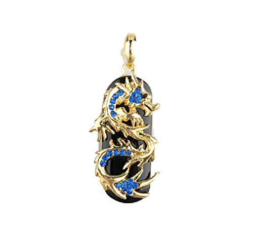 Sunworld Blue 64GB Dragon Design USB 2.0 Flash Drive Memory Stick with Jewelry Surface