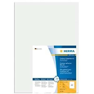 Herma A3-EtikettenOutdoorKlebefolie8695 297x420 mm extrem stark haftend Folie matt 50 Stück weiß