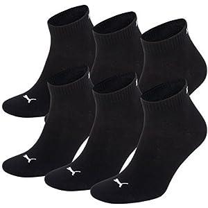 PUMA Unisex Quarters Socken Sportsocken 6er Pack black / black 200 - 35/38