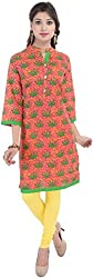 BluePocket Women's Cotton Regular Fit Kurta (SKU-005-Pink _ XXX-Large)