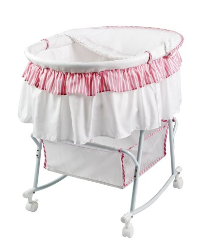 dream on me lacy protable 2 in 1 bassinet and cradle
