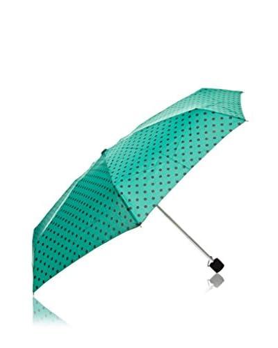 Dots Ombrello a Pois Nero/Verde