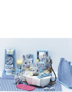 Calico Critters Master bathroom set & Accessories