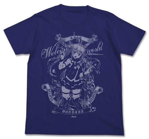この素晴らしい世界に祝福を! 水の女神アクア Tシャツ ナイトブルー Mサイズ