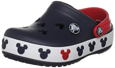 Crocs Crocband Mickey II Clog (Toddler/Little Kid),Navy/Red,6-7 M US Toddler
