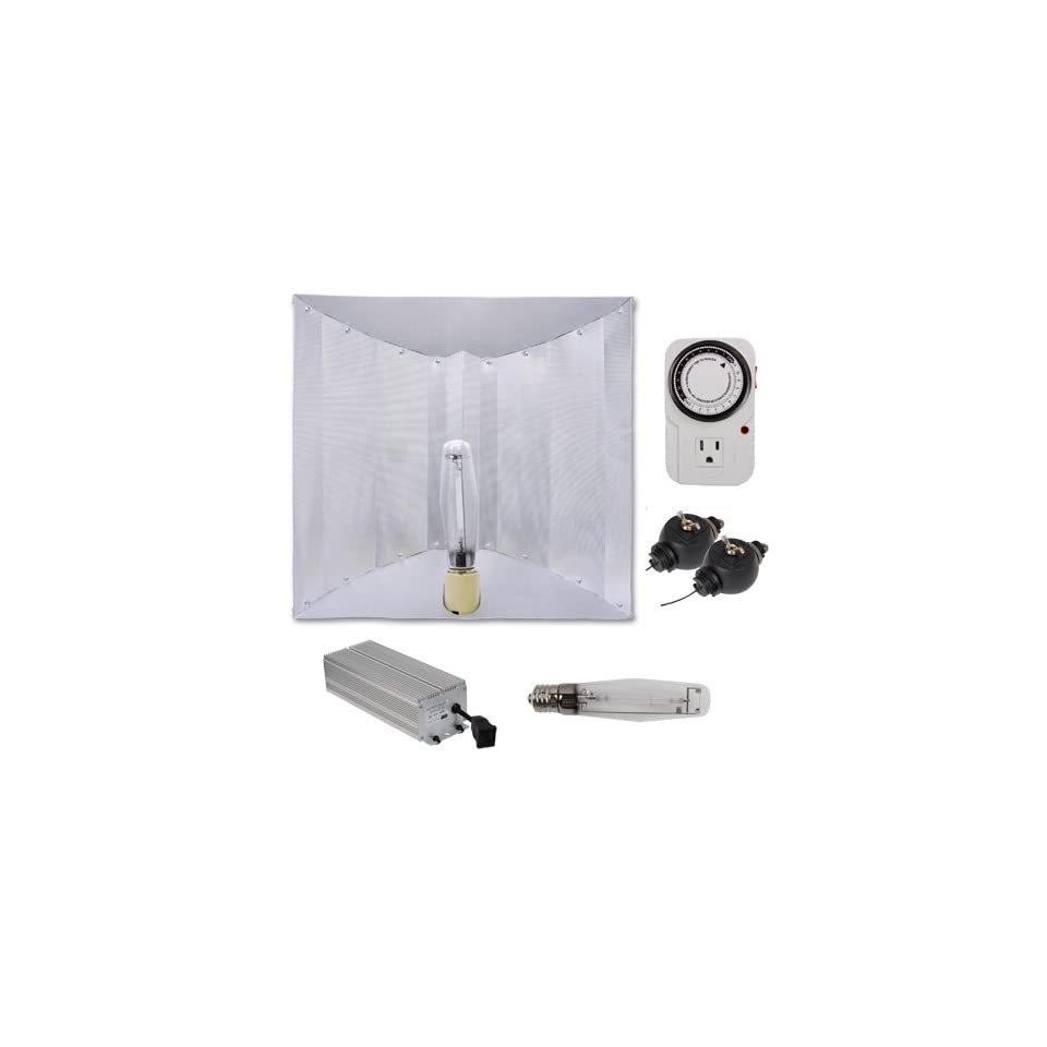 400 Watt HPS Grow Light Electronic Ballast Reflector Hood Kit