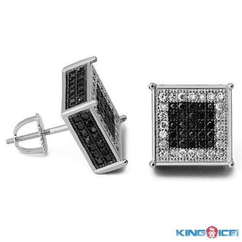 King Ice Domino Blinged Out Earrings