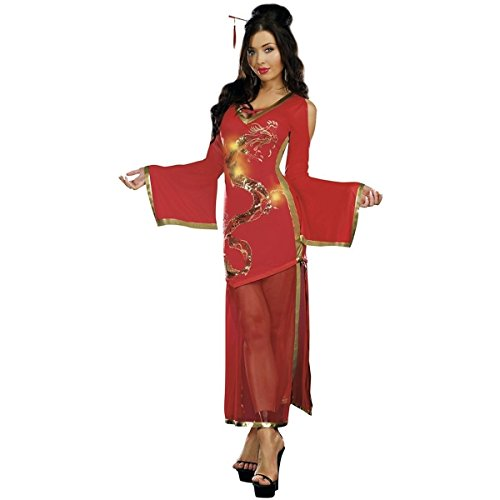 [GSG Dragon Lady Costume Adult Sexy Chinese Halloween Fancy Dress] (Chinese Doll Halloween Costume)