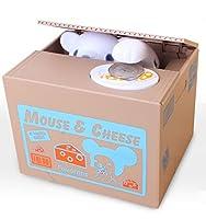 Viskey Cute Stealing Coin Cat Money Box Piggy Bank, Mouse from Viskey