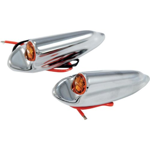 Thunder Cycle Designs Front Led Turn Signals - Black Anodized Tc-947B