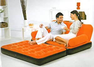 Inflatable Double Airbed Sofa Bed With Electric Pump