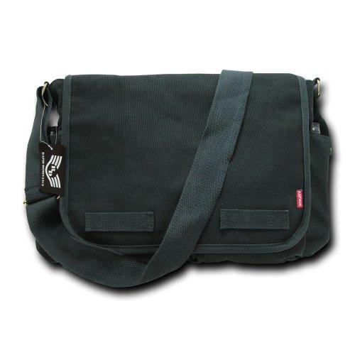 Rapiddominance Klassische Militär Messenger Bags, Schwarz