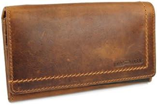 Hill Burry Geldbörse / Portmonnaie aus echtem hochwertigem Leder Vintage - Look LGHB011