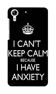 KnapCase Can't Keep Calm Designer 3D Printed Case Cover For HTC Desire 728