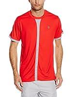 K-Swiss Camiseta Manga Corta Hypercourt Crew (Rojo)