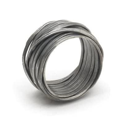 Silver Oxidised Wrapped Ring By Disa Allsopp