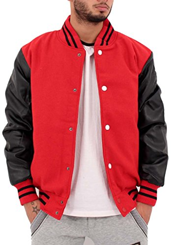 big-dawg-special-blouson-teddy-homme-rouge-xx-large