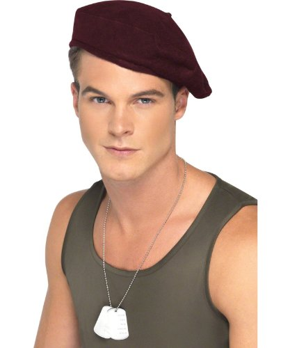 Smiffy'S Soliders Beret, Red, One Size
