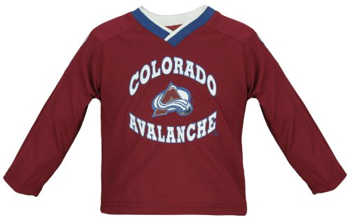 NHL Colorado Avalanche Youth Mesh Jersey Longe Sleeve Shirt