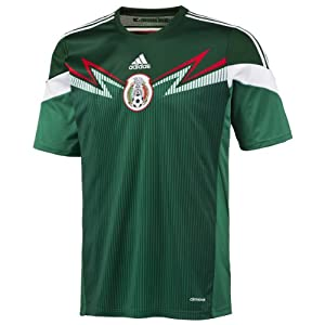 adidas Mexico Replica Home World Cup 2014 Soccer Jersey (S)